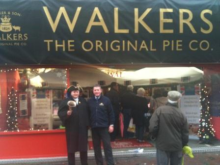 Walker & Son Pop up Shop in Leicester with Mark Birch and the Town Crier